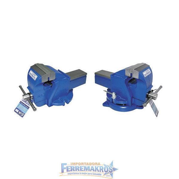 Prensa banco giratoria industrial azul
