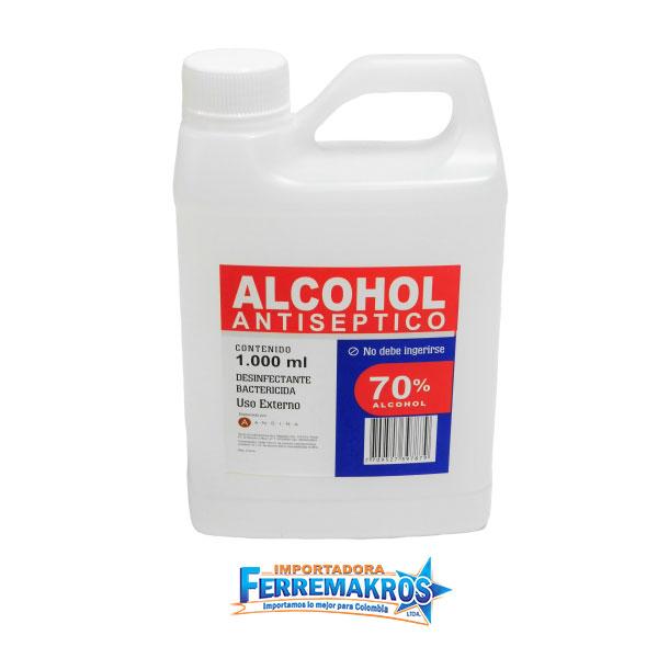 Alcohol-Antiseptico-70-1 LT-Ferremakros Importadora